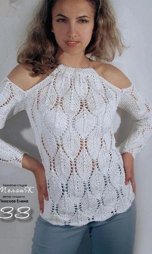 Схема вязания пуловера