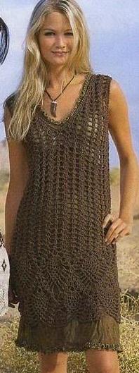 Ажурное платье схема