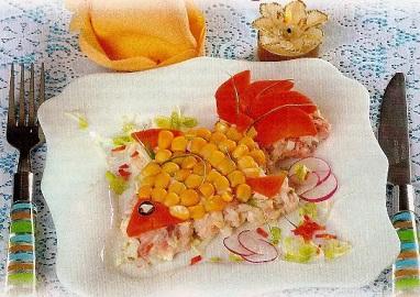 """Салат """"Золотая рыбка""""."""