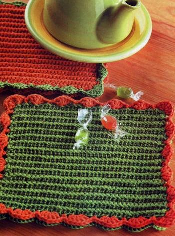 Вязание крючком - подставка под горячее