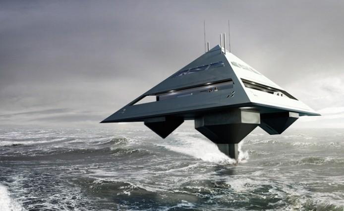 Концепт яхты-тетраэдра от Jonathan Schwinge
