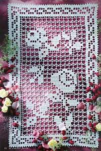 Вязаные салфетки с розами_ Vjazanye salfetki s rozami