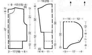Вязаный бело коричневый блузка с капюшоном размеры 36/38 и 40/42