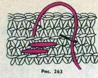 Украшение одежды, связанной крючком