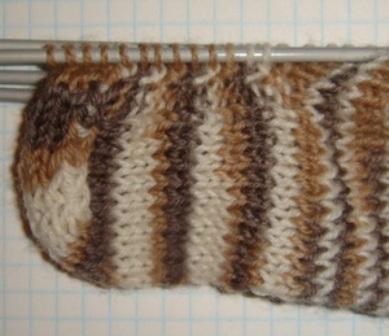 Вязание спицами клина для подъема стопы