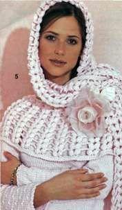 Розовая кружевная шаль размер: 42 х 200 см