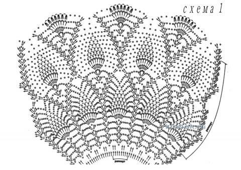 Платье Ананасовое чудо. Работа Людмилы Ширяевой вязание и схемы вязания