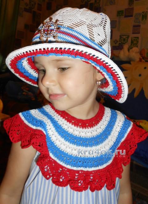 Платье и шляпка для девочки. Работы Галины Лукериной вязание и схемы вязания