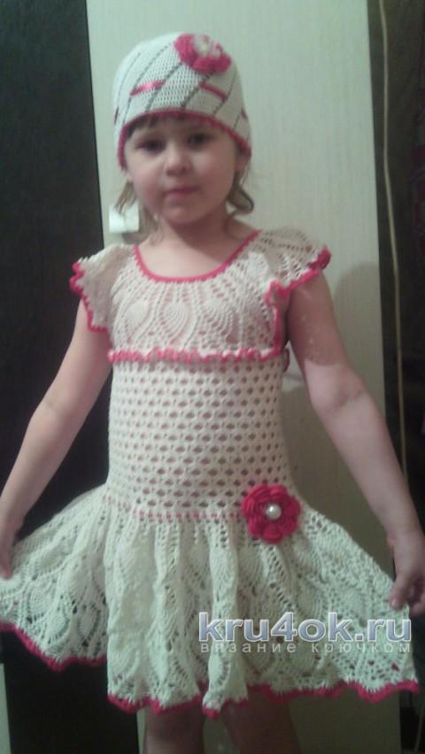 Платье для девочки Анна. Работа Яны Петровой вязание и схемы вязания