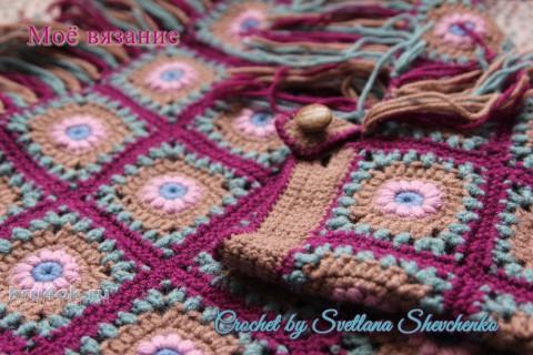 Пончо для девочки крючком. Работа Светланы Шевченко вязание и схемы вязания