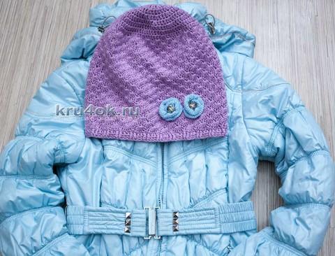 фото вязаной шапки - бини