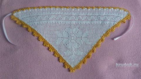 Крестильная рубашка и косынка. Работы Натани вязание и схемы вязания