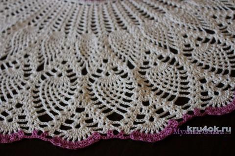 Платье для девочки крючком. Работа Мухиной Ольги вязание и схемы вязания