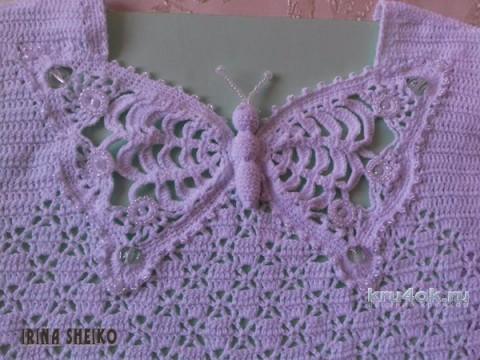 Топ бабочка крючком. Работа Ирины Шейко вязание и схемы вязания