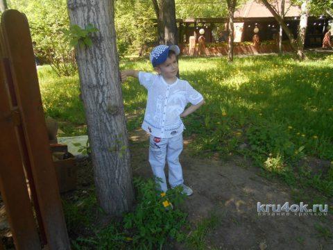 Кепка для мальчика крючком. Работа Елены Воронковой вязание и схемы вязания