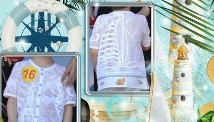 Рубашка для мальчика в филейное технике