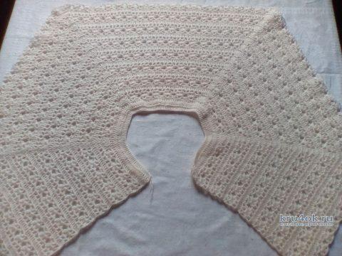 Болеро для девочки крючком. Работа Виктории вязание и схемы вязания