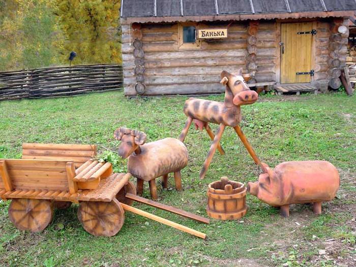 Фигуры из дерева для дачи своими руками
