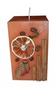 Шикарная свеча своими руками из остатков и апельсина