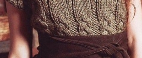 Вязание безрукавки с косами