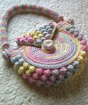 Вязание круглой сумки крючком