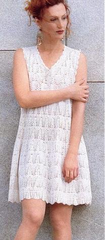 Простое платье крючком