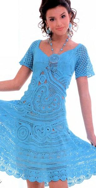 Платье крючком со схемами