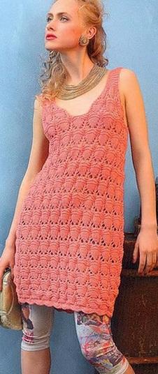Связать платье спицами
