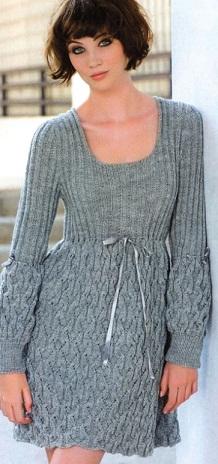 Вязаное платье