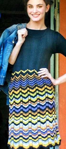Платье с зигзагообразным узором