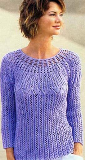 Вяжем пуловер