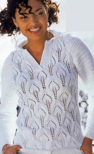 Спортивный пуловер спицами