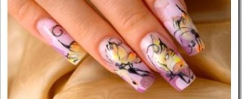 Наращивания ногтей гелем
