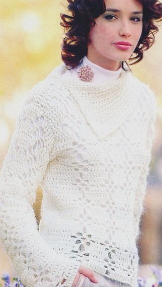 Связать пуловер крючком