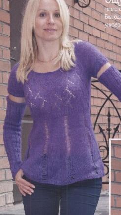 Модный пуловер