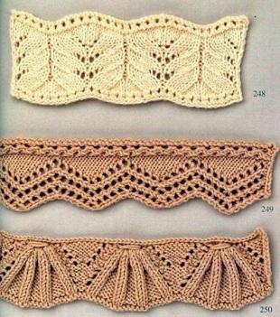 Вязание резинок спицами колосок