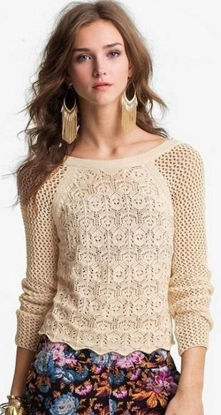 Узор для блузы спицами