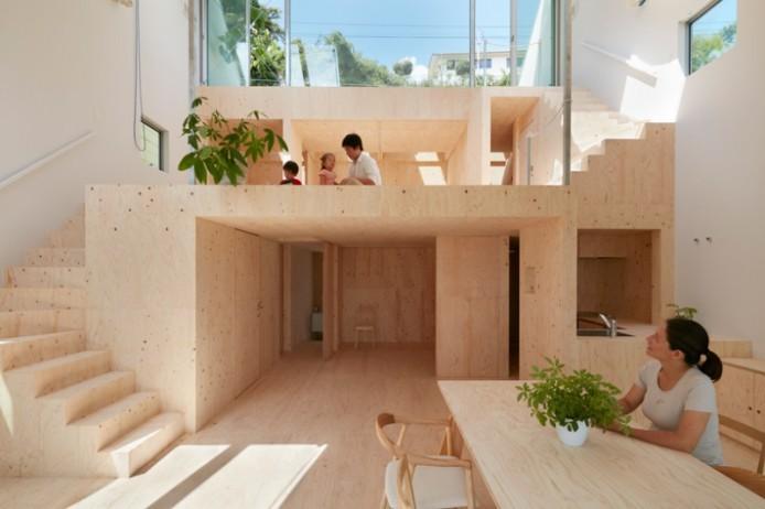 Дом с террасами от Tomohiro Hata
