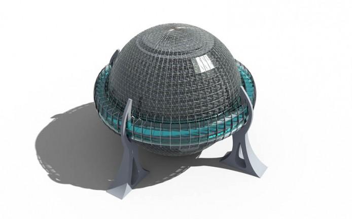 Многофункциональное здание сферической формы