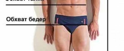 Русские размеры мужской одежды