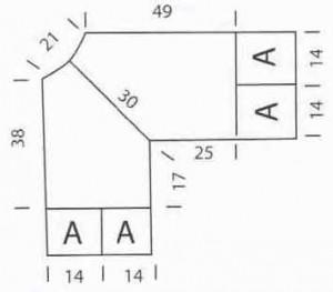 Туника с ажурными квадратами_ Tunika s azhurnymi kvadratami