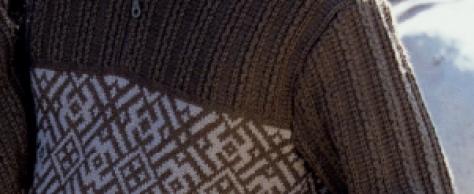 Мужской жаккардовый пуловер спицами
