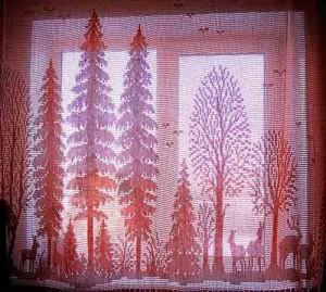 Вязаные шторы и занавески