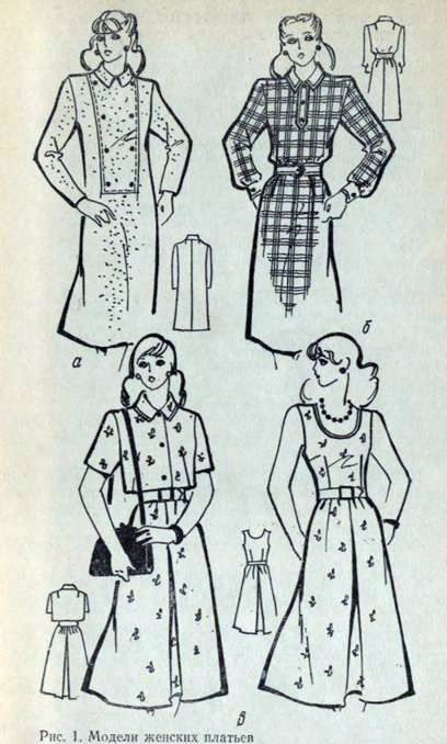 Виды изделий легкой женской и детской одежды