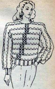 Вязаная блузка кимоно