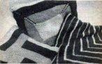 Вязаная цветная наволочка