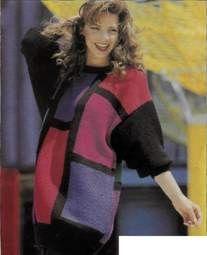 Пуловеры с прямоугольными цветными участками