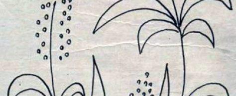 Вышивка во поле метелочка