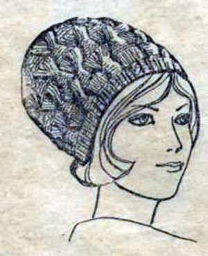 Вязаная шапочка сжатой вязки