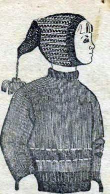 Вязаная шапочка буратинка